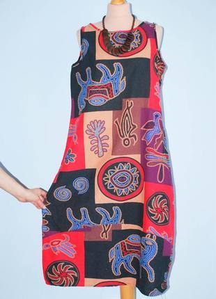Натуральное платье боченок боченком кокон сарафан свободный сарафан