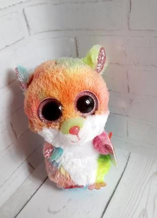 Мягкая игрушка глазастик ty хомяк rodney 15 см