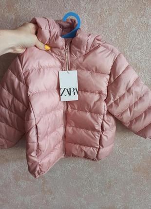 Курточка зара пудрового цвета 98 104