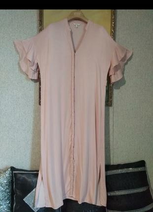 Очень стильное ньюдовое фирменное платье турция