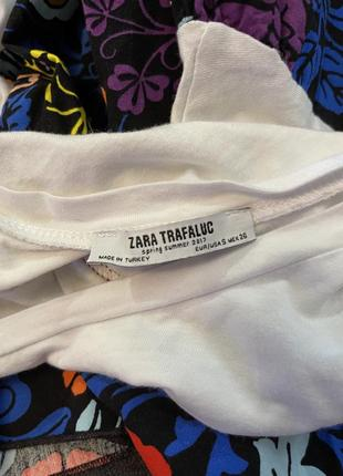 Стильная коротенькая футболка свободный крой zara5 фото