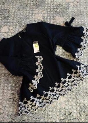 Блузка з рукавом-воланом
