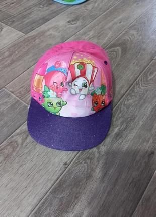 Яркая коттоновая кепка реперка с блестками на 4-8 лет 🍓
