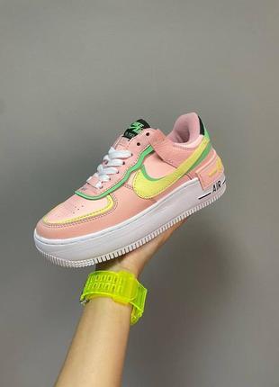 Nike air force shadow arctic punch, женские кроссовки найк