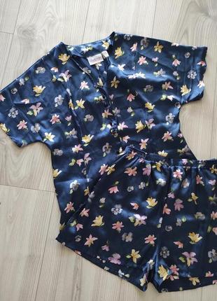 Сатиновий домашній комплект paloma, піжама, пижама, домашний комплект как zara