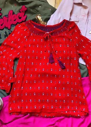 Яркая летняя блуза котон