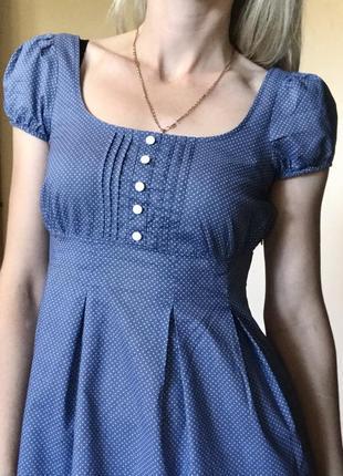 Платье h&m baby doll в горошек 158-164