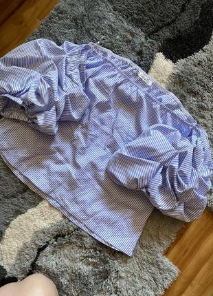Блуза в полоску классная с открытыми плечами