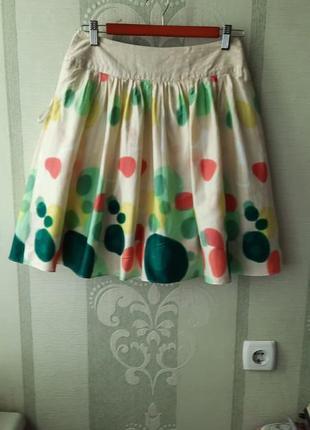 Яркая, хлопковая юбка