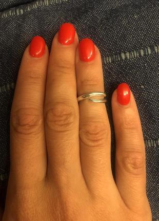 Серебряное кольцо на фалангу пальца