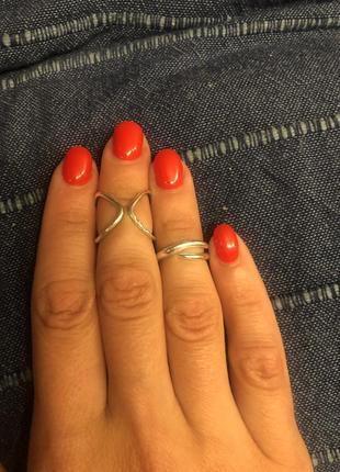 Серебряное кольцо на фалангу пальца2 фото
