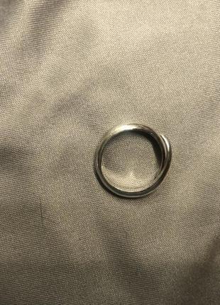Серебряное кольцо на фалангу пальца3 фото