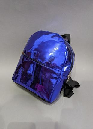 Скидка только сегодня!новый зеркальный рюкзак синего цвета