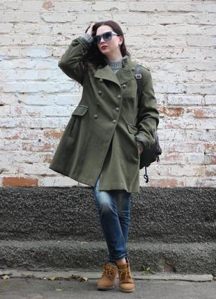 Пальто в стиле шинели