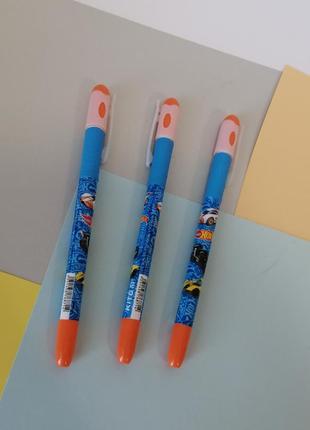 Набір 3 шт ручок kite hot wheels ручка