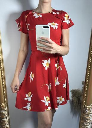 Платье / сарафан с цветочным принтом и рюшами ❤️