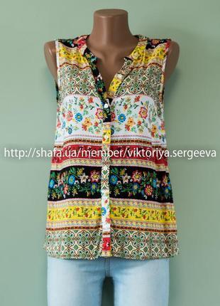 Красивая летняя блуза в принт