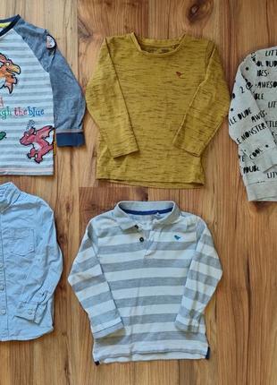 Кофты регланы лонгсливы рубашка на 3-4 года одним лотом
