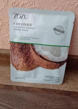 Маска для лица zozu formula collagen fruit с экстрактом кокоса 30 g