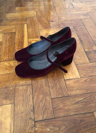 Бархатные туфли peter kaiser