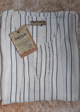 Мужская рубашка лён