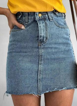 Юбка джинсовая джинс котон s,m,l