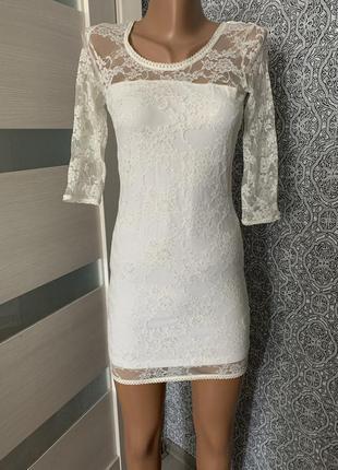 Красивое летнее белое платье h&m