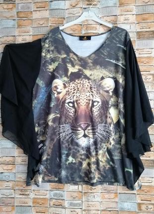 Красивенная блуза с леопардом