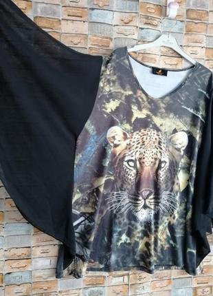 Красивенная блуза с леопардом4 фото