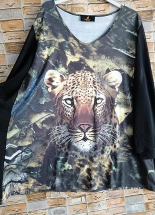 Красивенная блуза с леопардом2 фото