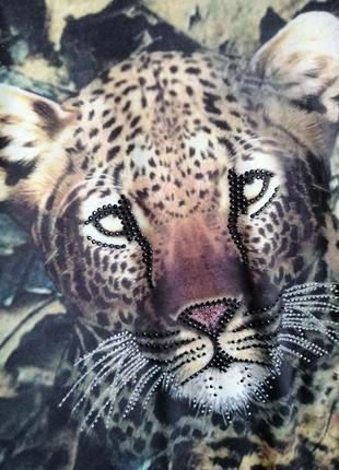 Красивенная блуза с леопардом3 фото