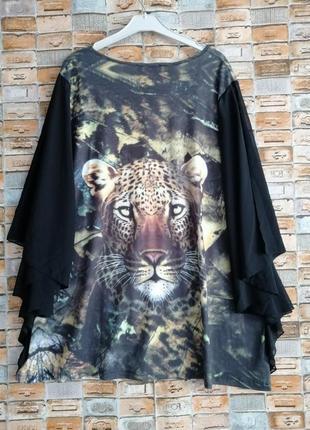 Красивенная блуза с леопардом10 фото