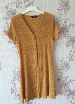 Стильна сукня гірчичного кольору