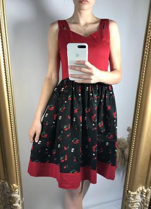 Винтажное платье с вишнями 🍒