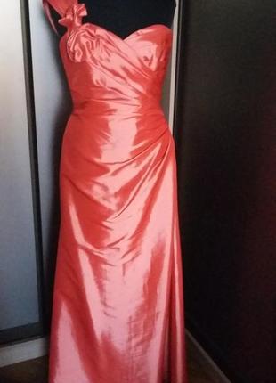 Платье для торжественного события кораллового цвета kelsey rose