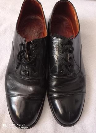 Черные туфли/ натуральная кожа 💯/ деловой стиль/ нарядные/ savile rore
