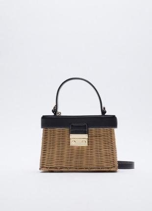Трендовая плетёная сумка сумочка от zara