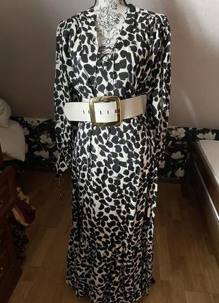 Шёлковое платье h&m