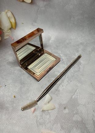 Гель для фиксации бровей patrick ta major brow shaping wax + двухсторонняя кисть.