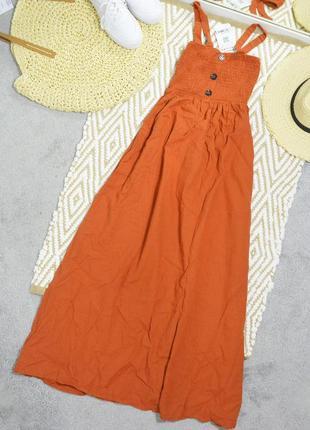 Новое кирпичное платье сарафан mixray