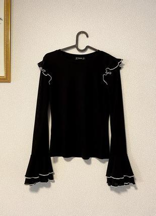 Лонсглив блуза воланы рюши / большая распродажа!