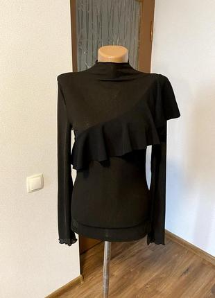 Блуза лонгслив рюши / большая распродажа!