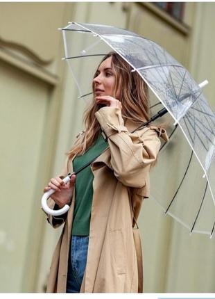 Зонт - трость прозрачный