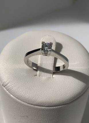 Срочно 🔥 золотое {585 проба} кольцо со swarovski / белое золото