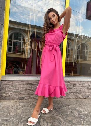 Модная яркая новинка платье *волан*❤️