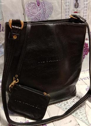 Jil sander кожаная сумка + кошелек 👛