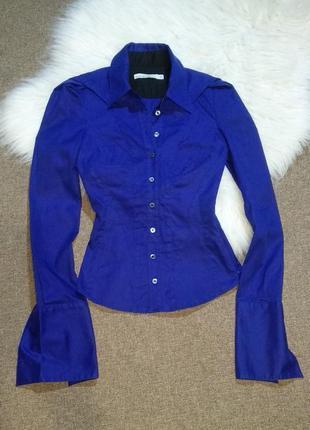 Рубашка блуза полуоблегаюшая с длинным рукавом