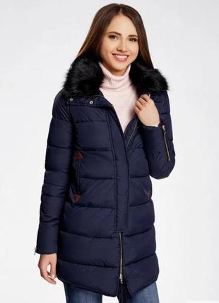 Теплая куртка пуховик. размер с-м. новая