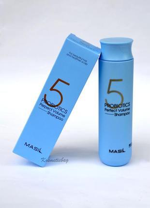 💙new❗ шампунь з пробіотиками для ідеального об'єму masil (300ml)