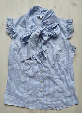 Блузка в полоску с бантом, блуза в полоску